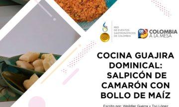 COCINA GUAJIRA DOMINICAL: SALPICÓN DE CAMARÓN CON BOLLO DE MAÍZ